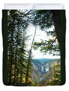 View Of The Canyon Duvet Cover