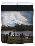 View Of The Creek From Catskill Point Duvet Cover
