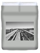View Of The Elkhorn Slough From A Platform.  Duvet Cover
