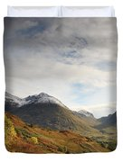 View Of The Glencoe Mountains Duvet Cover