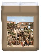 View Of The Interior Of The Colosseum Duvet Cover