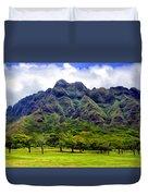 View Of The Koolau Range Duvet Cover