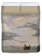 View Of The Lagoon Near Venice, 1826  Duvet Cover