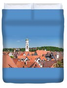 View Of The Old Town With St. Martins Duvet Cover