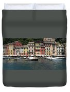 View Of The Portofino, Liguria, Italy Duvet Cover