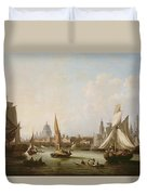 View Of The River Thames  Duvet Cover