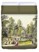 View Of The Temple Of Diana At Erlaw Duvet Cover