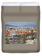 View Of Tirana From Dajti Mountain Duvet Cover