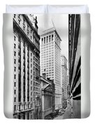 View Of Wall Street Duvet Cover