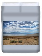 View Of Wasatch Range From Antelope Island Duvet Cover