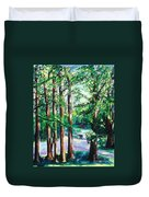 View Of Woodside Lake Duvet Cover