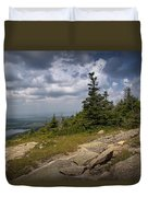 View On Top Of Cadilac Mountain In Acadia National Park Duvet Cover