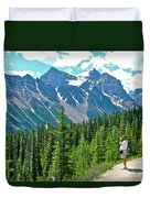 View On Trail To Lake Agnes In Banff Np-alberta Duvet Cover