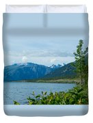View One Kluane Lake From Cottonwood Campground Near Destruction Bay-yk   Duvet Cover