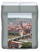 View Onto The Town Of Wuerzburg - Germany Duvet Cover