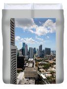 View Over Brickell Miami Duvet Cover