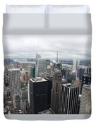 View Over Manhattan  Duvet Cover