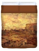 View Over Siena And San Domenico Duvet Cover