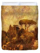 View Over The Forum In Rome Duvet Cover