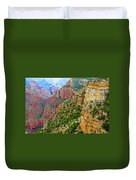View Six From Walhalla Overlook On North Rim Of Grand Canyon-arizona Duvet Cover