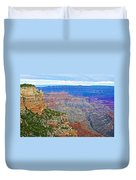 View Three From Walhalla Overlook On North Rim Of Grand Canyon-arizona  Duvet Cover