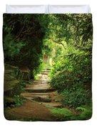 View To The Secret Garden Duvet Cover