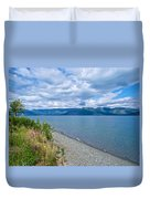 View Two Kluane Lake From Cottonwood Campground Near Destruction Bay-yk Duvet Cover