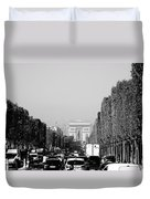 View Up The Champs Elysees Towards The Arc De Triomphe In Paris France  Duvet Cover