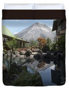 Viewing Arenal Volcano Duvet Cover