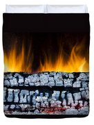 Views From The Fireplace Duvet Cover
