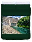 Views Of Man Made Dam At Lake Fontana Great Smoky Mountains Nc Duvet Cover