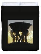 Vigelands Fountain At Sunset Duvet Cover