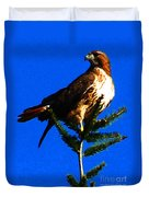 Vigilant Hawk Duvet Cover