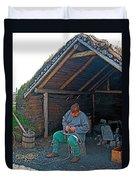 Viking Fisherman At L'anse Aux Meadows-nl  Duvet Cover