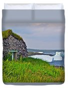 Viking House On Fishing  Point In Saint Anthony-nl Duvet Cover