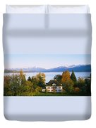 Villa At The Waterfront, Lake Zurich Duvet Cover
