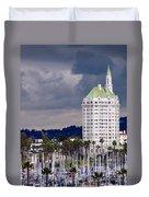 Villa Riviera Long Beach Duvet Cover by Jeff Lowe