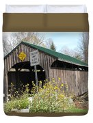 Village Bridge Waterville Vermont Duvet Cover
