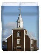 Village Church Of Eyrarbakki Duvet Cover by Michael Thornton