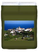 Village In Azores Islands Duvet Cover