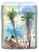 Village In Lanzarote 02 Duvet Cover