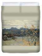 Village In The Ural Mountains Duvet Cover