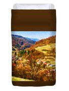 Village In The Valley Duvet Cover