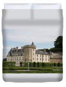 Villandry Chateau And Boxwood Garden Duvet Cover