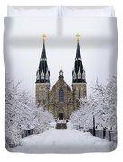 Villanova University In The Snow Duvet Cover