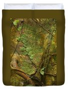 Vine On Tree Bark Duvet Cover