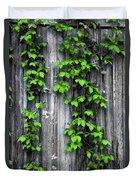 Vines On The Side Of A Barn Duvet Cover