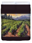 Vineyard At Dentelles Duvet Cover