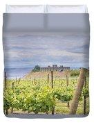 Vineyard In Maryhill Washington State Duvet Cover