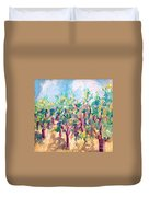 Vineyard In The Afternoon Sun Duvet Cover